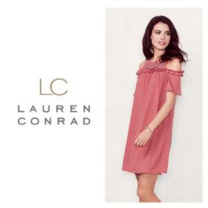 LC Lauren Conrad Dress Cold Shoulder Sun Dress XL